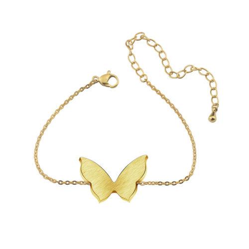 Butterfly Charm Bracelets Women Boho Jewelry Stainless Steel Adjustable Chain Bff Silver Bracelet Bridesmaid Gift Pulseras