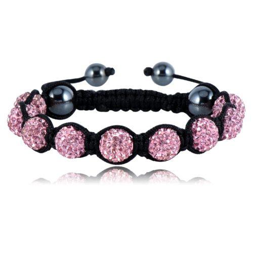LZESHINE Sales Promotion mm Crystal AB Clay Disco Ball Shamballa Bracelets Bangles Mix Colours Options pulseira