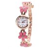 Lvpai Brand Luxury Crystal Gold Watches Women Fashion Bracelet Quartz Wristwatch Rhinestone Ladies Fashion Watch Gift Pink