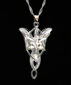 Arwen Evenstar Necklace The Elves Princess Fashion Crystal Silver Cubic Zirconia Stone Pendant For Women Wholesale