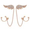 Top Quality Angle Wrings Rose Gold Color Stud Earrings Jewelry Austrian Crystal Wholesale ZYE ZYE