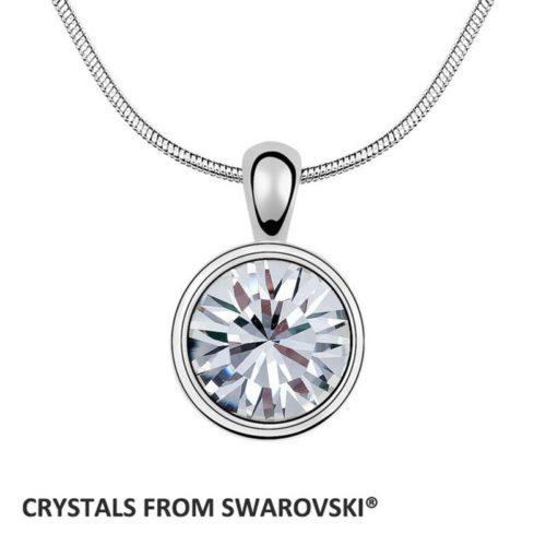 wholesale price round pendant necklace Crystals from Swarovski XIRUS Chaton Stone Christmas Gift