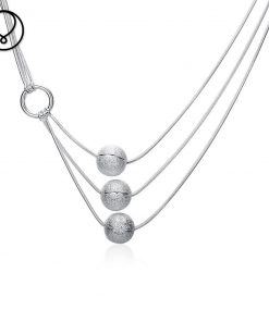 Top quality new arrival super deal silver plated necklaces jewelry for women valentines gift