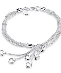 free shipping charm  sterling silver bracelets women lady high quality fashion jewelry Christmas gifts